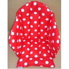 Ali Seat Cushion Cotton Red with Large White Dots