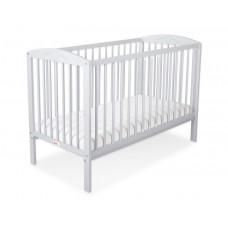 Bobono Grey Baby Cot 120x60 cm with Hearts