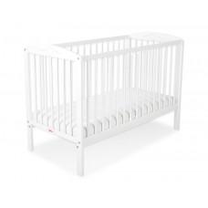 Bobono White Baby Cot 120x60 cm with Hearts