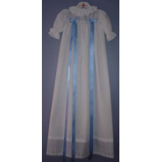 Ali Christening Gown Light Blue with 2 Blue Ribbons