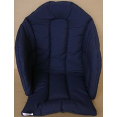 Ali Seat Cushion Cotton Solid Navy Blue