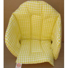 Ali Seat Cushion Cotton Yellow with Squares