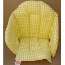 Ali sittdyna bomull gul med rutor