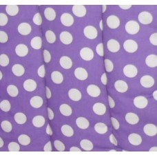 Ali Seat Cushion Cotton Purple with Large White Dots