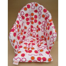 Ali Seat Cushion Cotton Cerise with Various Dots