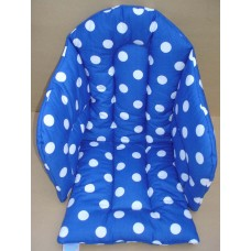 Ali Seat Cushion Cotton Blue with Large White Dots