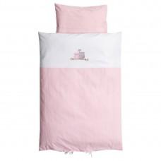 BabyDan Duvet cover for cot Love Birds Pink