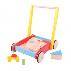 Baby Walker Cart with Wooden Blocks