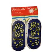 Bobobaby Anti-Slide Baby Socks Blue and White Stripes