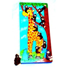 Wooden Counting Puzzle 1-10 Giraffe with Monkey
