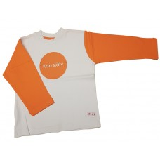 "Liten Jag Sweater Orange ""Kan Själv"""