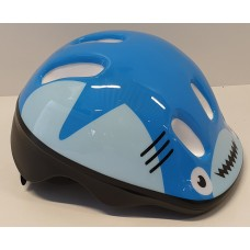 Bicykle helmet with green buckle Blue shark XXS