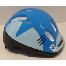 Cykelhjälm med grönt spänne Blå Haj XXS