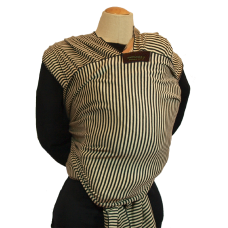 Baby Carrier Wrap Minimundus Black/Khaki, 5,5 m Organic Cotton