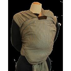 Bärsjal Minimundus Svart/khaki, 5,5 m ekologiskt bomull