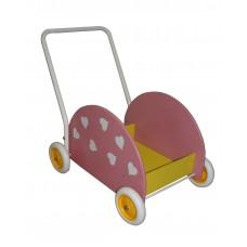 Segr Lära gå vagn rosa med hjärtan