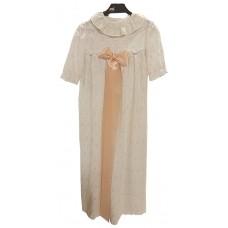 Småkläder Christening gown pink ribbon embroidered