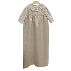 Småkläder Christening gown silver grey embroidered