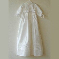 Christening Dress in White Cotton