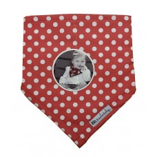 Bazzle Baby Bib Red with White Spots