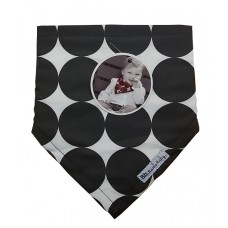Bazzle Baby Bib white with black spots