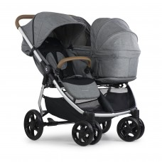 Crescent Duo Lightway Grey with Carry cot