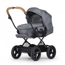 Crescent Comfort Grey Melange with slide-in carry cot