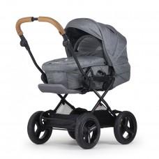 Crescent Comfort Grey Melange with Slide-in Carry Cot
