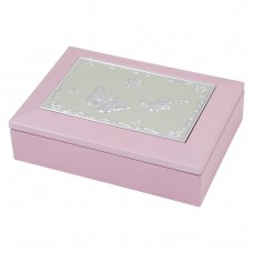 Dacapo Silver Wooden jewelry box with music Pink