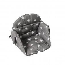 Kaxholmen chair cushion cotton grey star