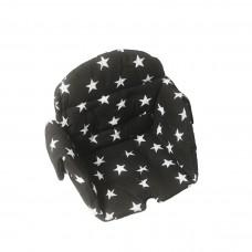 Kaxholmen sittdyna bomull svart star