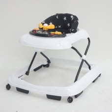 Kaxholmen Baby walker basic black/white with stars
