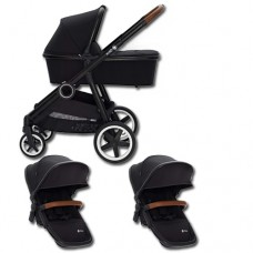 Qtus DuetPro Sibling stroller Black