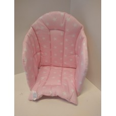 Ali Seat Cushion Cotton Pink with White Stars